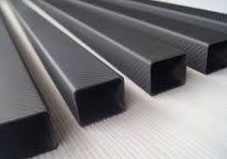 High glossy composite carbon fiber square tube